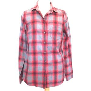 NWOT J. Crew tartan plaid shirt blouse XS